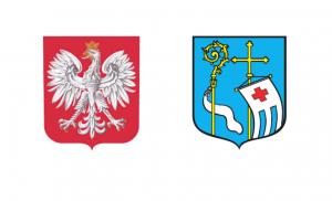 godło Polski i herb Pułtuska